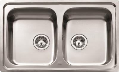 Мойка кухонная Teka Universo 2C (матовый) - вид сверху