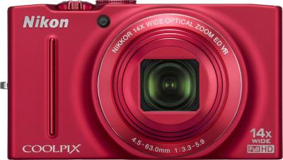 Компактный фотоаппарат Nikon COOLPIX S8200 Red - общий вид
