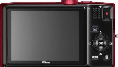 Компактный фотоаппарат Nikon COOLPIX S8200 Red - дисплей