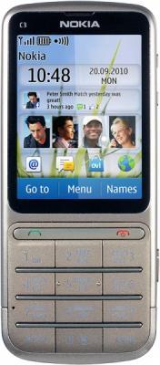Мобильный телефон Nokia C3-01.5 Khaki Gold - общий вид