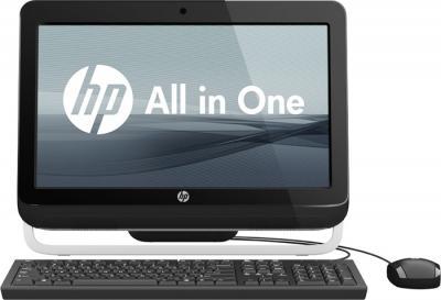 Моноблок HP 3420 (B5G02ES) - вид с клавиатурой и мышью (в комплект не входят)