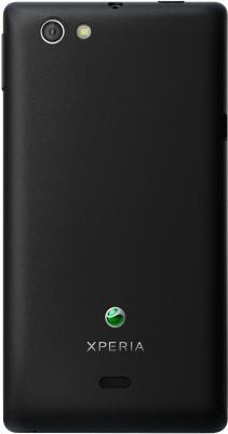 Смартфон Sony Xperia Miro (ST23i) Black - вид сзади