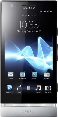 Смартфон Sony Xperia Miro (ST23i) White - вид спереди