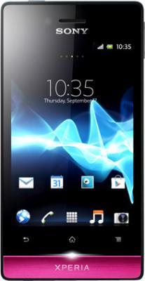 Смартфон Sony Xperia Miro (ST23i) Black-Pink - общий вид