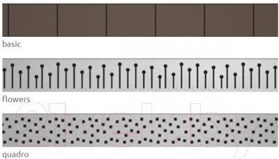 Решетка для трапа Excellent 5R075F Flowers - вид решетки уточняйте при заказе