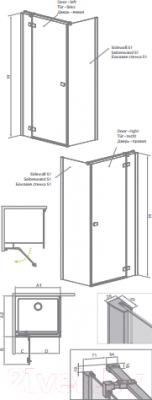 Душевое ограждение Radaway Fuenta New KDJ Door 100/L (384040-01-01L)