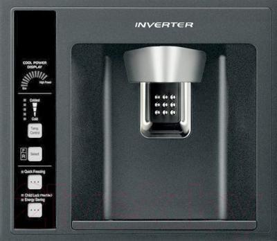 Холодильник с морозильником Hitachi R-W662PU3GBK
