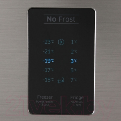Холодильник с морозильником Samsung RB33J3220SS/WT