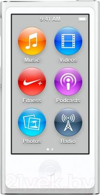 MP3-плеер Apple iPod nano 16Gb MKN22QB/A (бело-серебристый)