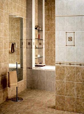 Декоративная плитка для ванной Kerama Marazzi Башкирия С894\8050 (300x200, коричневый)