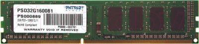 Оперативная память DDR3 Patriot PSD32G160081