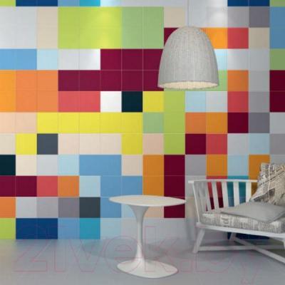 Плитка для стен ванной Kerama Marazzi Калейдоскоп 5208 (200x200, светлый хаки блестящий)