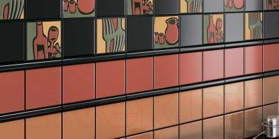Бордюр для ванной Kerama Marazzi Карандаш 131 (200x15, черный)