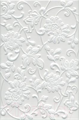 Плитка Kerama Marazzi Аджанта Цветы 8216 (300x200, белый)