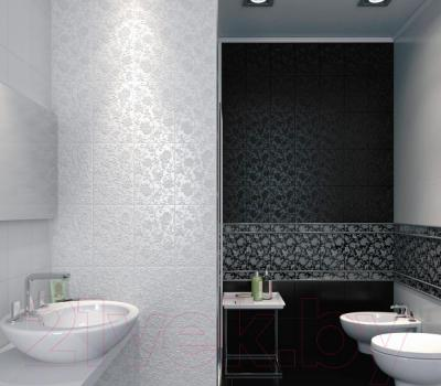 Плитка Kerama Marazzi Аджанта Цветы 8217 (300x200, черный)