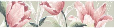 Бордюр для ванной Kerama Marazzi Норфолк Цветы STG\B270\11000T (300x72, зеленый)
