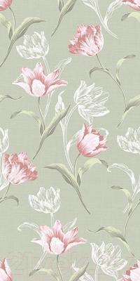 Декоративная плитка для ванной Kerama Marazzi Норфолк Цветы 11087Т (600x300, зеленый)
