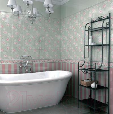 Декоративная плитка для ванной Kerama Marazzi Норфолк Полоски 11088Т (600x300, зеленый)