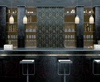 Плитка для стен ванной Kerama Marazzi Махараджа 11058Т (600x300, черный)