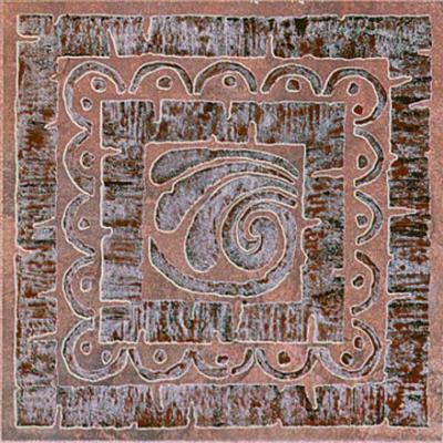 Декоративная  плитка для пола Kerama Marazzi Вставка Уффици D252/4021 (200x200, россо)