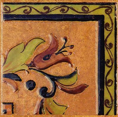 Декоративная плитка Kerama Marazzi Вставка Пале Рояль А1938\3330 (147x147, светло-бежевый)
