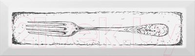Декоративная плитка для кухни Kerama Marazzi Гамма Fork NT\B26\2882 (285x85, черный)