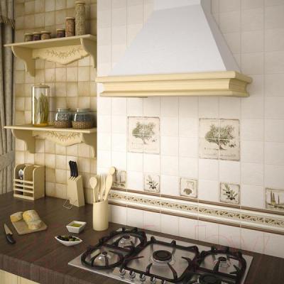Плитка для стен кухни Kerama Marazzi Полотно Прованс Караоке 1221Т (400x300, бежевый)
