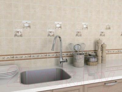 Плитка для стен кухни Kerama Marazzi Полотно Каламкари 1256Т (400x300, бежевый)