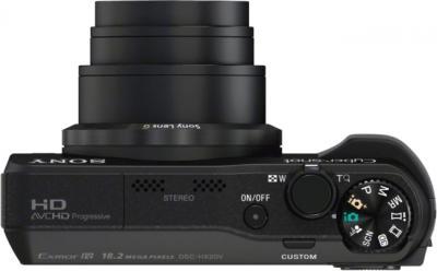 Компактный фотоаппарат Sony Cyber-shot DSC-HX20 Black - вид сверху