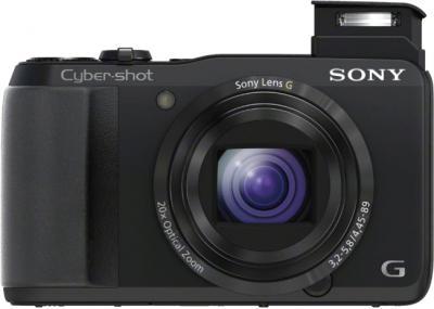 Компактный фотоаппарат Sony Cyber-shot DSC-HX20 Black - вид спереди