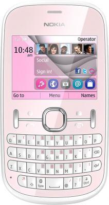Мобильный телефон Nokia Asha 200 Light Pink - общий вид