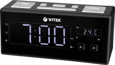 Радиочасы Vitek VT-3523 (черный) - общий вид