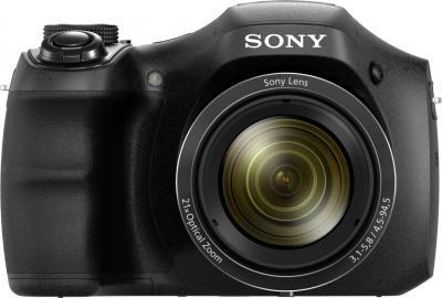 Компактный фотоаппарат Sony Cyber-shot DSC-H100 Black - вид спереди