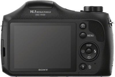 Компактный фотоаппарат Sony Cyber-shot DSC-H100 Black - видс сзади