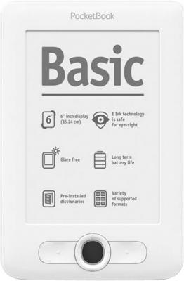 Электронная книга PocketBook Basic 613 White (microSD 8Gb) - общий вид