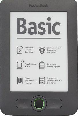 Электронная книга PocketBook Basic 613 Gray (microSD 4Gb) - общий вид