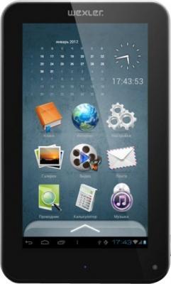 Электронная книга Wexler T7008 Black (microSD 4Gb) - фронтальный вид