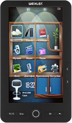 Электронная книга Wexler T7004 Black (microSD 8Gb) - общий вид