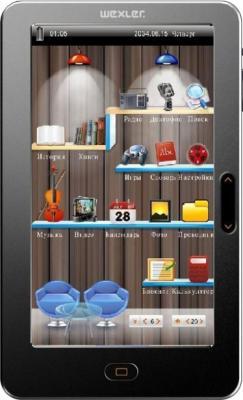 Электронная книга Wexler T7055 Black (microSD 8Gb) - общий вид