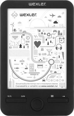 Электронная книга Wexler E6003 Black (microSD 4Gb) - общий вид