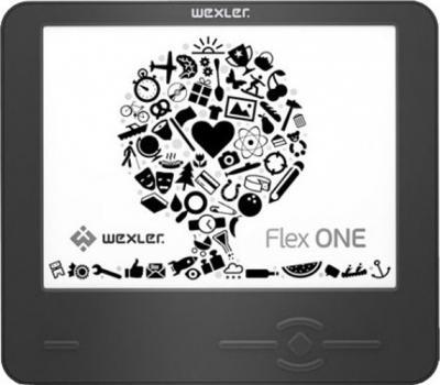 Электронная книга Wexler Flex ONE Black (microSD 8Gb) - фронтальный вид