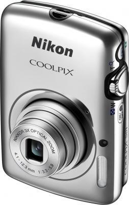 Компактный фотоаппарат Nikon Coolpix S01 Silver - общий вид