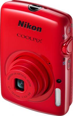 Компактный фотоаппарат Nikon Coolpix S01 Red - общий вид