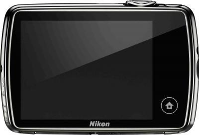 Компактный фотоаппарат Nikon Coolpix S01 Black - вид сзади