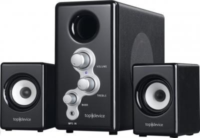Мультимедиа акустика Top Device TDM-330 Black - общий вид