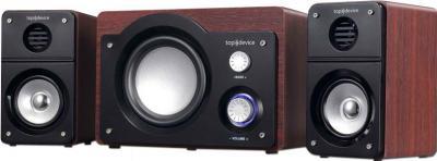 Мультимедиа акустика Top Device TDM-345 Cherry - общий вид