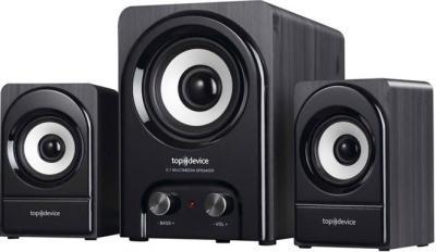 Мультимедиа акустика Top Device TDM-320 Black - общий вид