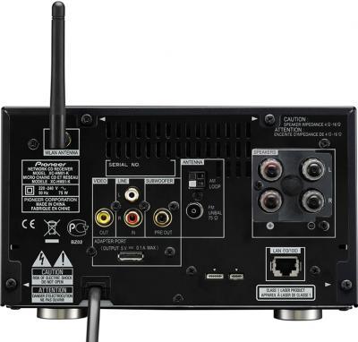 Микросистема Pioneer X-HM81-K - вид сзади