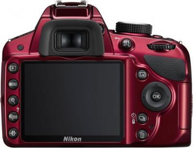 Зеркальный фотоаппарат Nikon D3200 18-55mm VR Red - вид сзади