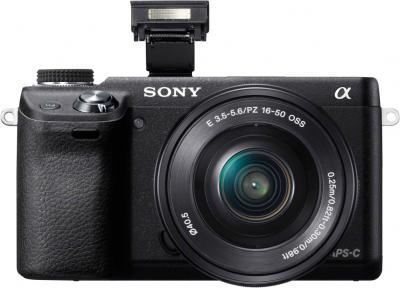 Беззеркальный фотоаппарат Sony NEX-6LB - вид спереди